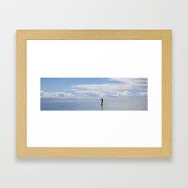 Paddle Surf in Paradise Framed Art Print