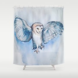 Watercolor owl Shower Curtain