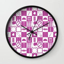 Contraception Pattern (Purple) Wall Clock