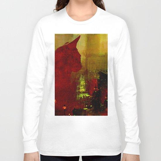 Le chat de Paris  Long Sleeve T-shirt