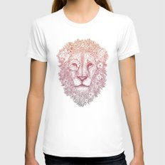 Wildly Beautiful MEDIUM White Womens Fitted Tee