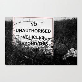 No vehicles sign Canvas Print