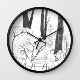 Madison Square Park Sketch #1 Wall Clock