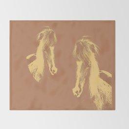 Double Pony Throw Blanket