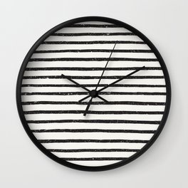 Distressed Hand Drawn Stripes Wall Clock