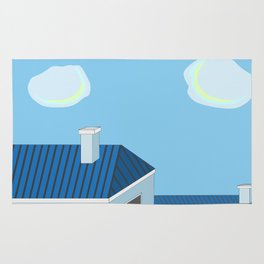 Blue roofs Rug