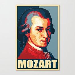 Mozart Propaganda Poster Pop Art Canvas Print