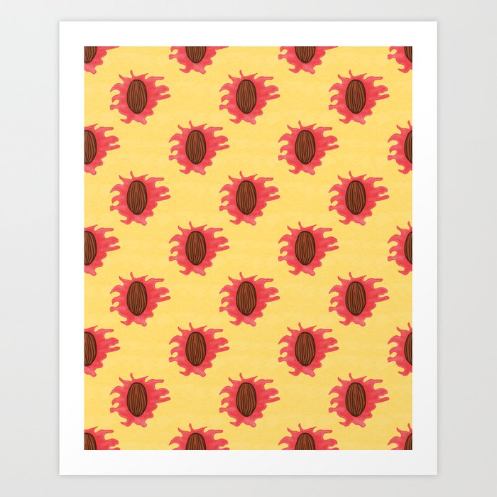 Peaches n Cream Art Print