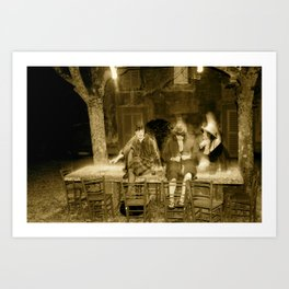 tavolo in pietra Art Print