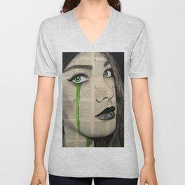 Green Eyes Unisex V-Neck