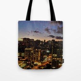 Honolulu After Dark Tote Bag
