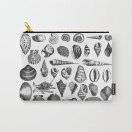 Vintage Sea Shell Drawing Black And White Carry-All Pouch