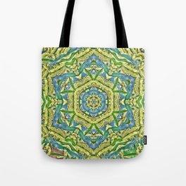 Beautiful wattle mandala Tote Bag