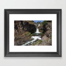 White River Falls Framed Art Print