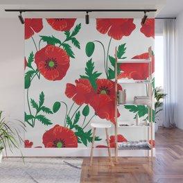 Poppy Stems #4 Wall Mural