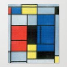 Lego: Piet Mondrian no.2 Canvas Print