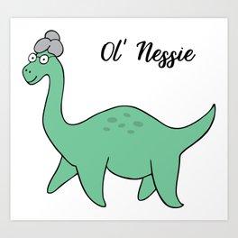 Ol' Nessie Art Print