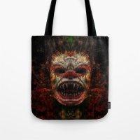 demon Tote Bags featuring Demon by Zandonai