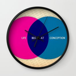 Life Begins At Conception Wall Clock