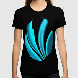 Abstract Fractal Colorways 02 Pacific Blue T-shirt