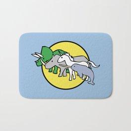 Horned Warrior Friends (unicorn, narwhal, triceratops, rhino) Bath Mat