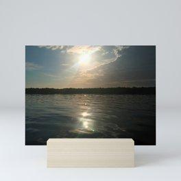 River Sun Mini Art Print