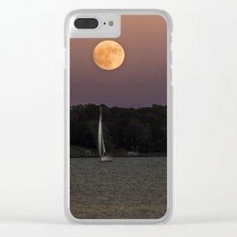 Super Moon Under Sail Clear iPhone Case