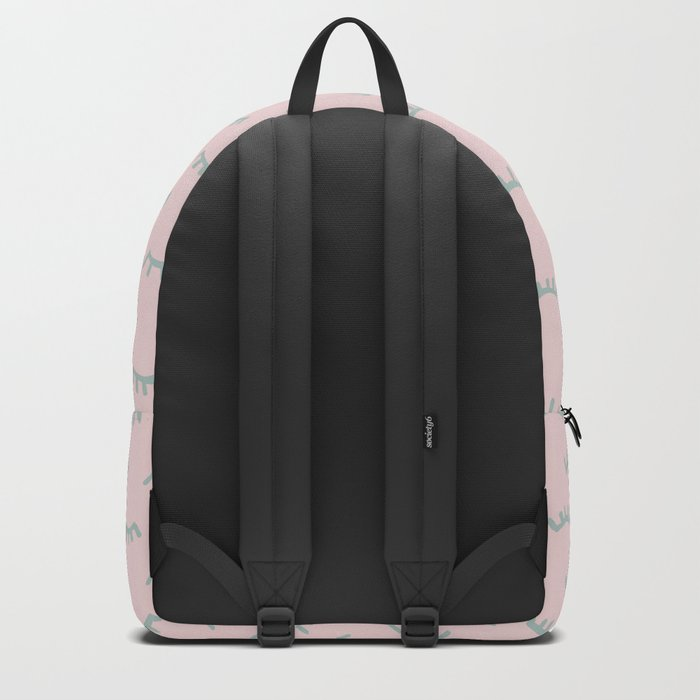 Small Pink Sleeping Eyes Of Wisdom - Pattern - Mix & Match With Simplicity Of Life Backpack