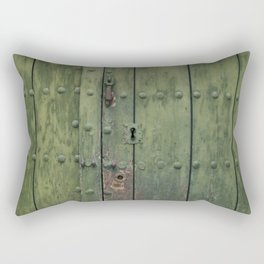 Green Door Rectangular Pillow