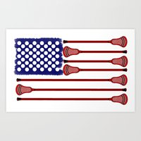 lacrosse Art Prints featuring Lacrosse AmericasGame by YouGotThat.com