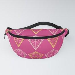 Pink Yarrow Geometric Diamonds Fanny Pack