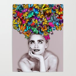 Madonna Butterfly Poster