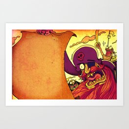 Pirate invitations!! Art Print