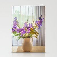 iris Stationery Cards featuring Iris by Svetlana Korneliuk