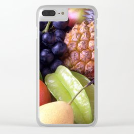 Tropical Fruits Clear iPhone Case