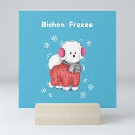 Bichon Freeze Mini Art Print