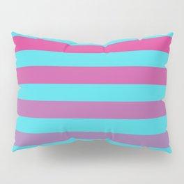blue pink stripes Pillow Sham