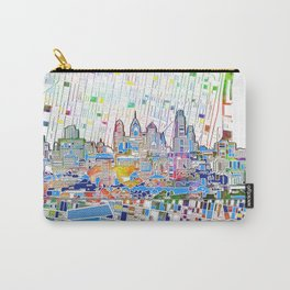 philadelphia city skyline map Carry-All Pouch
