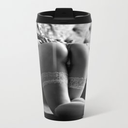 Spanking Time for Submissive Damsel in Panties Travel Mug