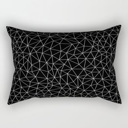 Low Pol Mesh (negative) Rectangular Pillow