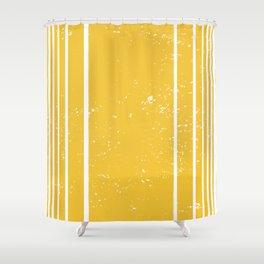 Yellow Stripes Summer Pattern Shower Curtain