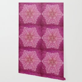 Big paisley mandala in raspberry Wallpaper
