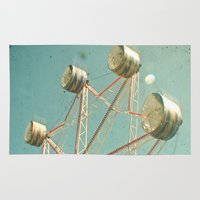 ferris wheel Area & Throw Rugs featuring Ferris Wheel by Cassia Beck