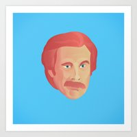 will ferrell Art Prints featuring Stay Classy San Diego! by Juanchi Badino