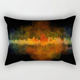 Rome city skyline HQ v04 Dark Rectangular Pillow