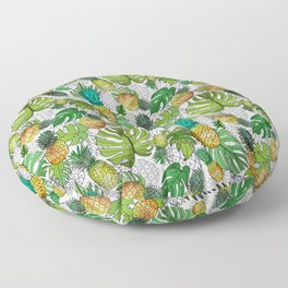 Tumbling Pineapples and Tropical Vibes Floor Pillow