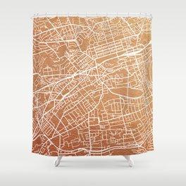 Edinburgh map Shower Curtain
