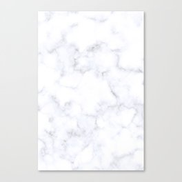 Classic Grey and White Natural Stone Veining Quartz Canvas Print