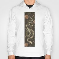 snake Hoodies featuring Snake Skeleton by Jessica Roux