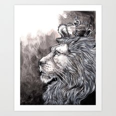 King Lion Art Print